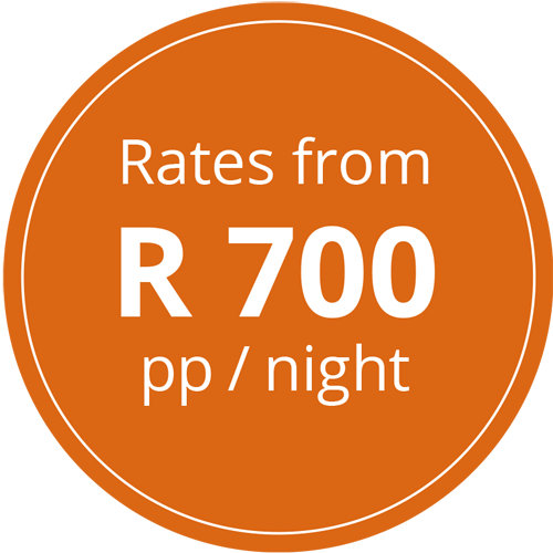 Rates from R 700 pp/night