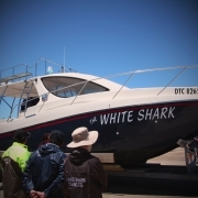 "Boat ""the white shark"""