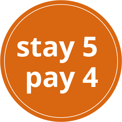 stay 5 - pay 4